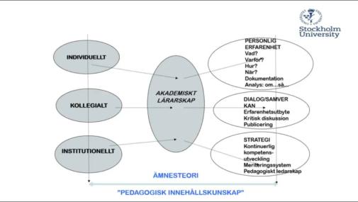 Max Schejas modell för att illustrera akademiskt lärarskap