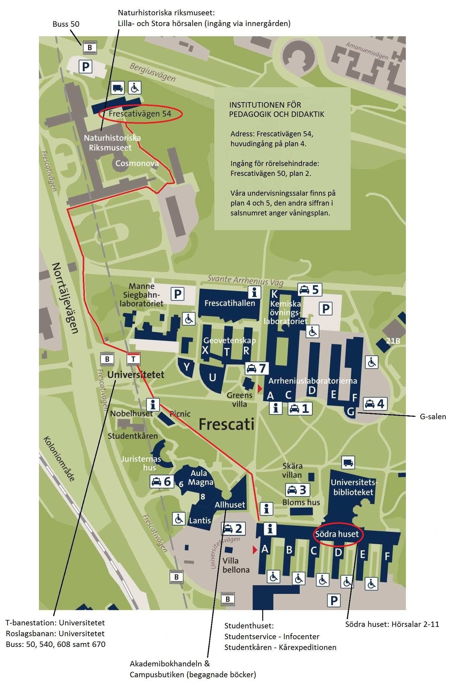 Karta Parkeringstaxa Stockholm.Hitta Till Oss Institutionen For Pedagogik Och Didaktik
