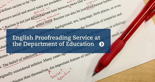 English Proofreading Service at the Department of Education